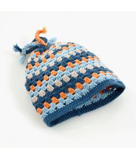 Crochet hat petrol
