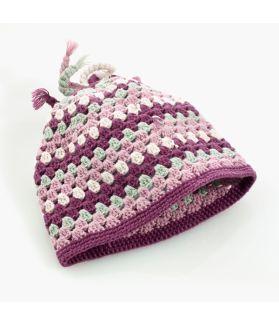 Crochet hat soft purple