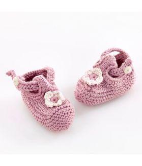 Baby Shoes - dusky pink 100 - 061 ORGP 0m, 6m, 1y