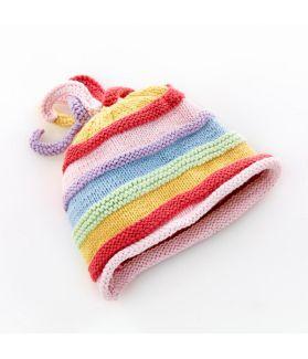 Rainbow Hat - pastel 100-046PASTEL 0-6m, 6-12m, 1-2Y