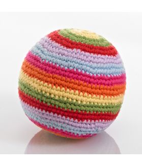 Stripey crochet rattle ball - multi 200-016MULTI