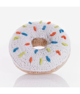 Donut rattle - white sprinkles 200-015AR