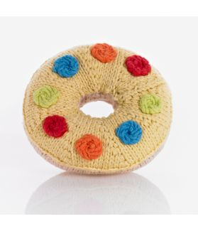 Donut rattle - yellow smartie 200-015