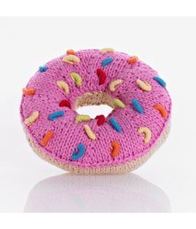 Donut rattle - pink sprinkles 200-015BR